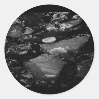 Black ice classic round sticker