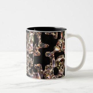 Black Ice Coffee Two-Tone Coffee Mug