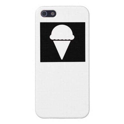 Black Ice Cream Icon iPhone 5 Covers