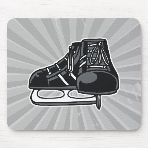 black ice hockey skates graphic mouse pad