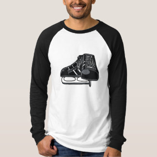 black ice hockey skates graphic T-Shirt