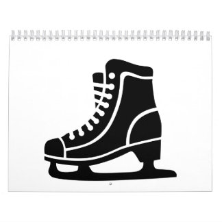 Black ice skate calendar