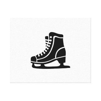 Black ice skate gallery wrap canvas
