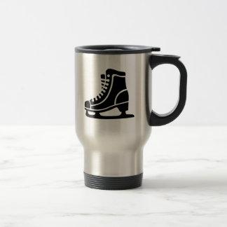 Black ice skate 15 oz stainless steel travel mug