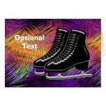 Black  Ice Skates & Technicolor - Customizable Greeting Card