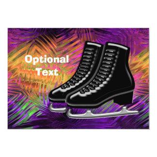 Black  Ice Skates & Technicolor - Customizable Card