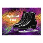 Black  Ice Skates & Technicolor - Customizable 5x7 Paper Invitation Card