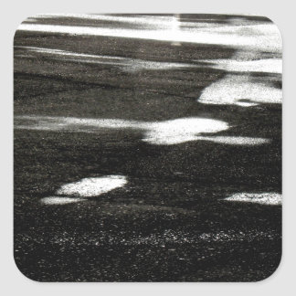 Black ice square sticker