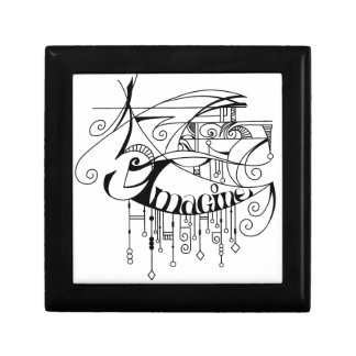 Black Imagine In Lines and Dangles Jewelry Box