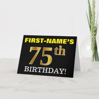 Black Faux Gold 16th Wedding Anniversary Name Card Zazzle Com