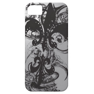 Black impresionante Fleur De Les iPhone 5 Funda