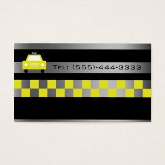 Black In Metal Gradient City Taxi Service Card