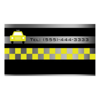 Black In Metal Gradient City Taxi Service Card Double-Sided Standard Business Cards (Pack Of 100)