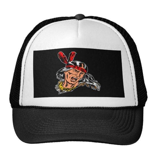 Black Indian Trucker Hat