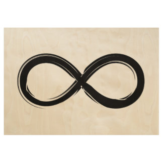 Black Infinity Symbol | Nerd Gifts Wood Poster