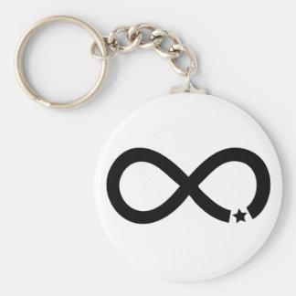 Black Infinity Symbol with star Keychain