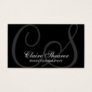 Black Initials Business Card