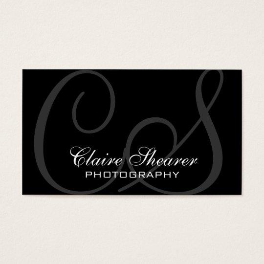 Black Initials Business Card