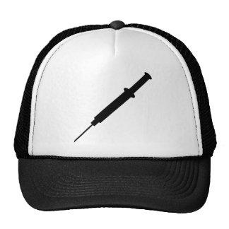 black injection nurse doctor design trucker hat