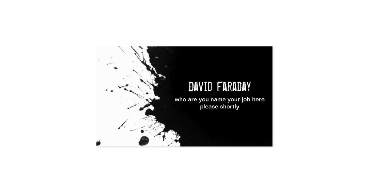 black ink business card
