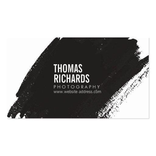 Black Ink Grunge Brushstroke Business Card