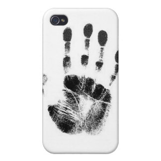 Black Ink Handprint Cover For iPhone 4