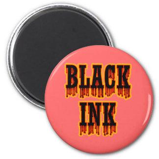 Black Ink 2 Inch Round Magnet