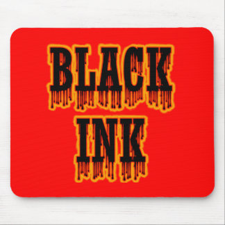 Black Ink Mouse Pad