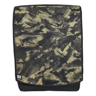 Black Ink on Gold Background Backpack