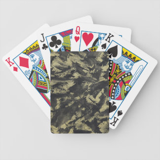 Black Ink on Gold Background Bicycle Playing Cards