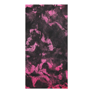Black Ink on Pink Background Card