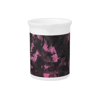 Black Ink on Pink Background Pitcher