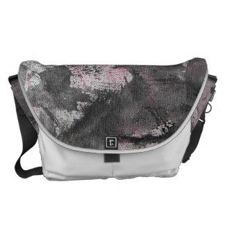Black Ink on Pink Highlighter Courier Bag