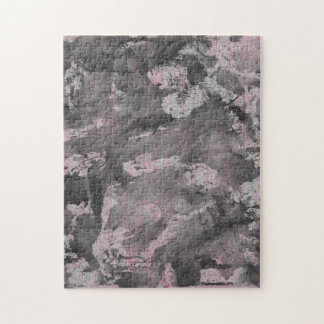 Black Ink on Pink Highlighter Jigsaw Puzzle