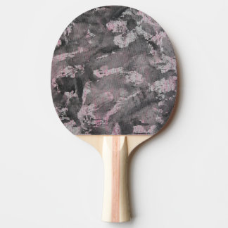 Black Ink on Pink Highlighter Ping-Pong Paddle