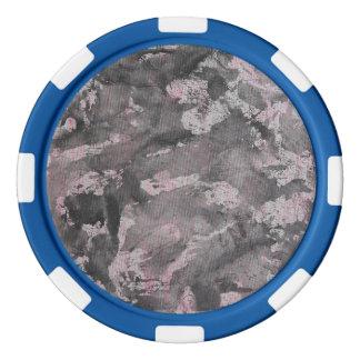 Black Ink on Pink Highlighter Set Of Poker Chips