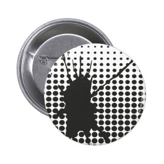 Black Ink Splat Button Badge