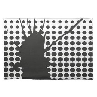 Black Ink Splat Placemat