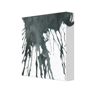 Black Ink Splatter Canvas Print
