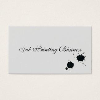 Black Ink Splatter Print, Grunge Spatter Droplets Business Card