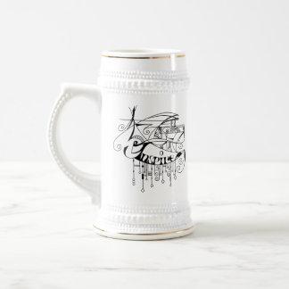 Black Inspire In Lines and Dangles Beer Stein