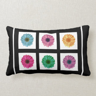 BLACK Instagram 6 Add Your Photo Collage AB12 Throw Pillow