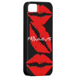 Black Iphone5 case with Red Lips iPhone 5 Cases