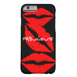 Black iPhone 6 case with Red Lips iPhone 6 Case