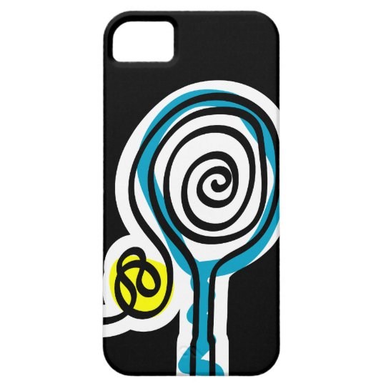 Black iPhone case for tennis player