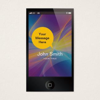 Black iPhone Like Business Card