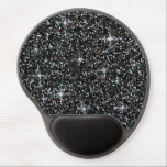 "Black iridescent glitter gel mouse pad<br><div class=""desc"">Add a touch of sparkle to your day with this iridescent glitter!</div>"