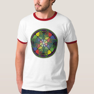 Black Iris Stained Glass T-Shirt