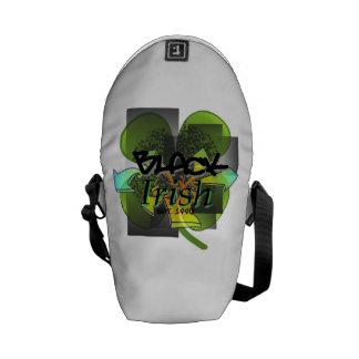 Black Irish Backpack Courier Bag