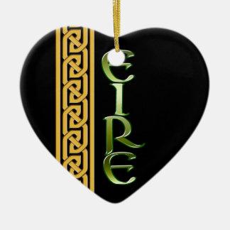 Black Irish Ceramic Ornament